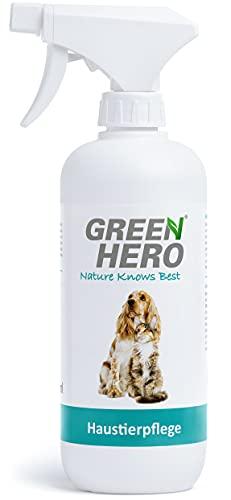 Green Hero Haustierpflege Pflegt die Haut bei Juckreiz Grasmilben Milben Pilz Räude Reizungen Läusen und unterstützt den Regenerationsprozess für Hund und Katze 500ml