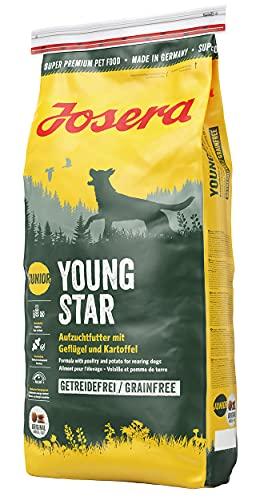 JOSERA YoungStar (1 x 15 kg)   getreidefreies Welpenfutter für mittlere und große Rassen   Super Premium Trockenfutter für wachsende Hunde   1er Pack