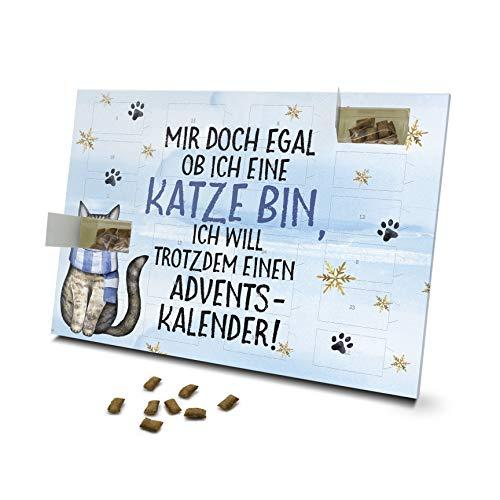 printplanet - Katzen Adventskalender - Layout Mir doch egal ob ich eine Katze Bin - mit Katzen Leckerlis gefüllt - Weihnachtskalender für Katzen - 2021