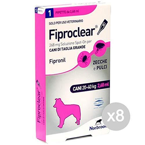 Fiproclear Set 8 Hunde 1 Pipette 20-40 kg Zecch&Pulver für Hunde, Mehrfarbig, Einheitsgröße