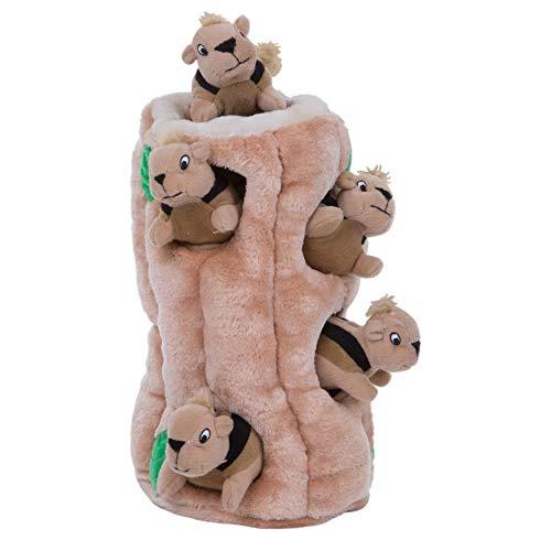 Outward Hound Plüsch-Hundespielzeug Hide-A-Squirrel Squeaky Puzzle - Versteckspiel mit Eichhörnchen für Hunde, XL