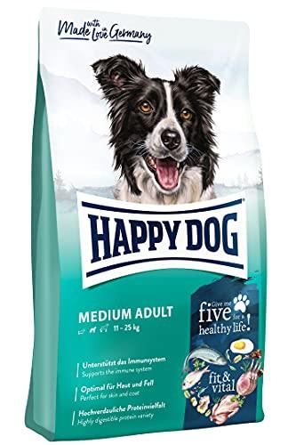 Happy Dog 60756 - Supreme fit & vital Medium Adult - Hunde-Trockenfutter für mittelgroße Hunde - 12 kg Inhalt