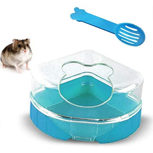 Macabolo Hamster Sand Badezimmer, Kunststoff Sand Trockenbad Container Sauna Toilette Sandkasten mit Schaufel für kleine Tier Hamster Gerbil Ratte Mäuse