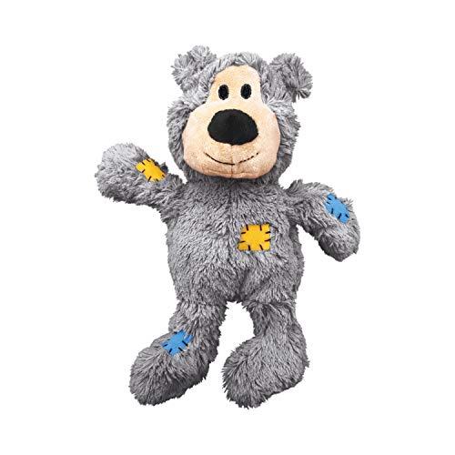 KONG – Wild Knots Bear – Innere Geknotete Seile und Minimale Füllung für Weniger Unordnung (Farbvar.) – Für Kleine/Mittelgroße Hunde