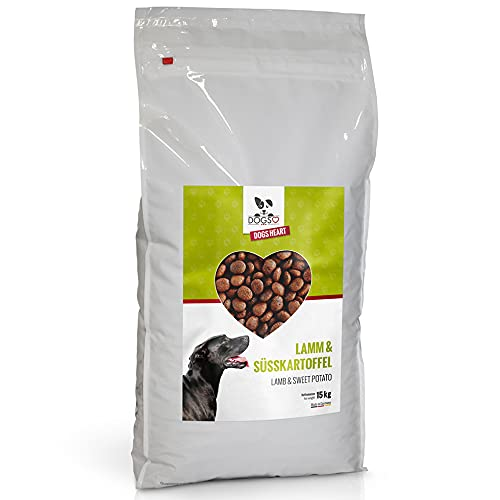 DOGS-HEART Lamm&Süßkartoffel 15kg - Getreidefreies Hundefutter mit hohem Fleischanteil - ohne Zusatz von Zucker, Mais oder Weizen