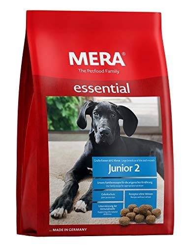 MERA essential Hundefutter  Junior 2  Für Junghunde großer Hunderassen ab dem 6. Monat - Trockenfutter mit Geflügel - Ohne Weizen & Zucker (12,5 kg)