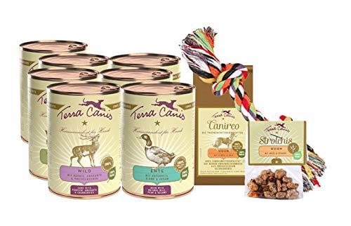 Terra Canis Classic Nassfutter Kennenlernpaket I Reichhaltiges & gesundes Premium Hundefutter in echter Lebensmittelqualität Aller Rohstoffe I Allergenarm, getreidefrei & glutenfrei
