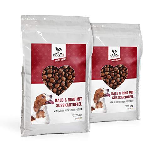 DOGS-HEART Kalb&Rind mit Süßkartoffel(2x5 kg) Hundefutter trocken Getreidefrei mit hohem Fleischanteil, Glutenfrei