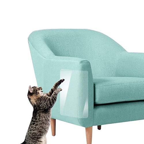 2 Stücke Kratzschutz for Katze Hund 35x45cm Couch Kratzschutz Katze Sofa, Kratzabwehr Katzen mit 20 Schrauben, Selbstklebend Transparent Katze Klebeband für Sofa Tür Möbel Wand Cat Furniture Protector