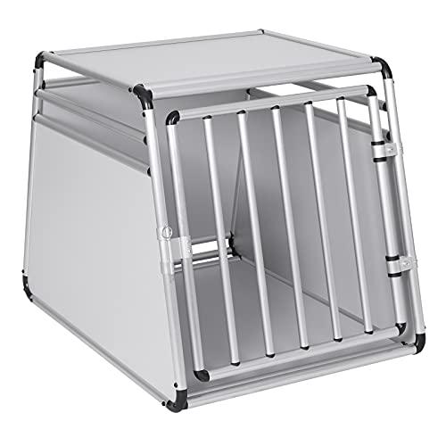 EUGAD Hundetransportbox Alu Hundebox Reisebox Autobox für große Hunde Husky Samojede Weimaraner Border Collie Chow-Chow Shetland Sheepdog 85 x 65 x 69 cm XL 0009LL