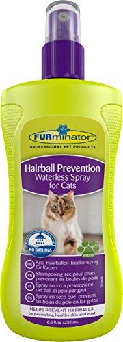 FURminator Anti-Haarballen Spray Trockenspray für Katzen, hilft übermäßiges Haaren zu reduzieren ohne zu baden, wirkt vorbeugend gegen Haarballen, 1 Sprühflasche (1 x 250 ml)