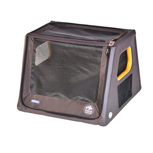 TAMI - Aufblasbares Hundebox M - Dog Box Hundetransportbox Hund Autotransportbox Transportbox Falbare Hundekäfig