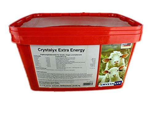Crystalyx Extra Energie Leckstein/Leckschale für Schafe, Ziegen & Gatterwild, Rot, 22,5 kg