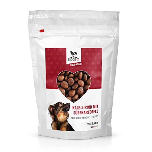 DOGS-HEART Kalb&Rind mit Süßkartoffel (1,5 kg) Hundefutter trocken Getreidefrei mit hohem Fleischanteil, Glutenfrei