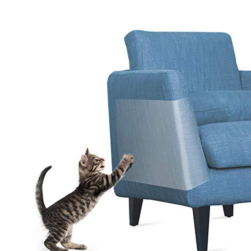 One Sight 8 Stücke Couch Kratzschutz Katze Sofa, Anti-Kratz-Möbelschutz, Anti-Kratzer Katzen Couch Schutz für Sofa, Tür, Möbel, Wand, Doppelseitig Transparent Cat Furniture Protector (30,5 x 43,2 cm)