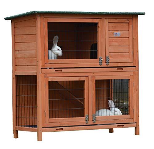 BUNNY BUSINESS FeelGoodUK 2 stufiger Hasenstall/Kaninchenstall mit Dach