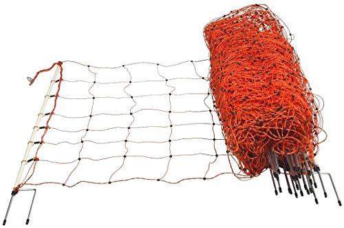 horizontHundezaun Schafnetz Höhe 90 cm Länge 50 m Doppelspitze Hundenetz - Elektronetz