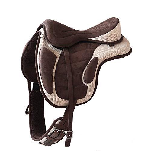 German Riding Sattel Expert - baumlos (braun-beige)