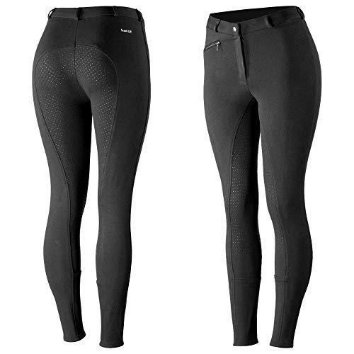HORZE Active Reithose Damen, Silikon Grip Vollbesatzreithose für Damen mit Reißverschlusstaschen und elastischem Beinabschluss