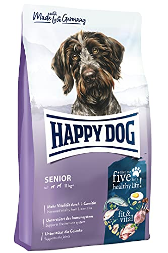 Happy Dog 60766 - Supreme fit & vital Senior - Hunde-Trockenfutter für ältere Hunde - 12 kg Inhalt