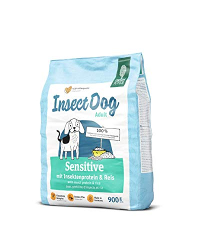 Green Petfood InsectDog Sensitive Adult (5 x 900 g) | Hundefutter mit Insekten als einzige tierische Proteinquelle | nachhaltiges Trockenfutter für ausgewachsene Hunde | 5er Pack