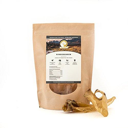 Hundeland Natural - Rinderohren - 5 x 6 Stück - Naturkausnack - gesunde Belohnung - naturbelassen - schlachtfrische Rohprodukte - sanfte Trocknung
