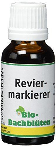 cdVet Naturprodukte Bio-Bachblüten Reviermarkierer 20 ml - Hund, Katze, Pferd - ohne Alkohol+Zucker - Bio-zertifiziert - Nachtkerzenöl
