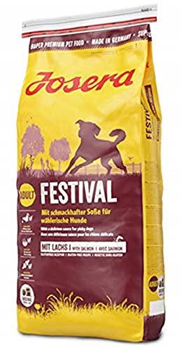 JOSERA Festival (1 x 15 kg)   Hundefutter mit leckerem Soßenmantel   Super Premium Trockenfutter für ausgewachsene Hunde   1er Pack