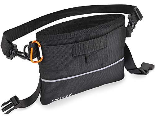 TWIVEE – Futterbeutel für Hunde – Leckerlie Beutel mit Einhand-Schnappverschluss – herausnehmbare Innentasche – Futtertasche für Hundetraining –inkl. Karabiner