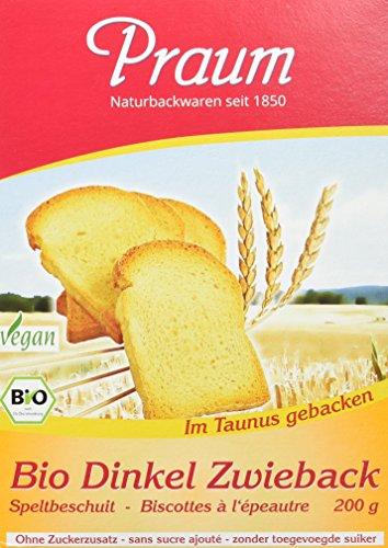 Praum Bio Dinkel Zwieback, 6er Pack (6 x 200 g)