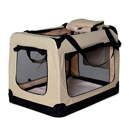 dibea Hundetransportbox Hundetasche Hundebox faltbare Kleintiertasche Größe (S) 50x34x36 cm Farbe Beige