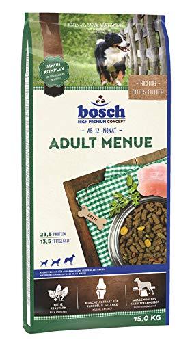 bosch HPC Adult Menue | Kroketten-Mix für ausgewachsene Hunde aller Rassen | 1 x 15 kg