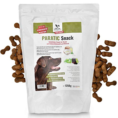 DOGS-HEART PARATIC Snack 1250g | Natürlicher Schutz - Snack für Hunde mit Schwarzkümmelöl und Kokosöl | Premium Hunde Leckerli | natürlich, beruhigt & entspannt