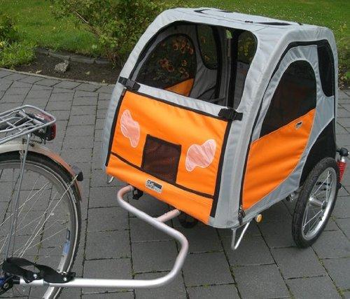 PetEGO Comfort Wagon L gefederter Fahrradanhänger mit Aluminiumrahmen für Hunde, Liegefläche 90x70cm