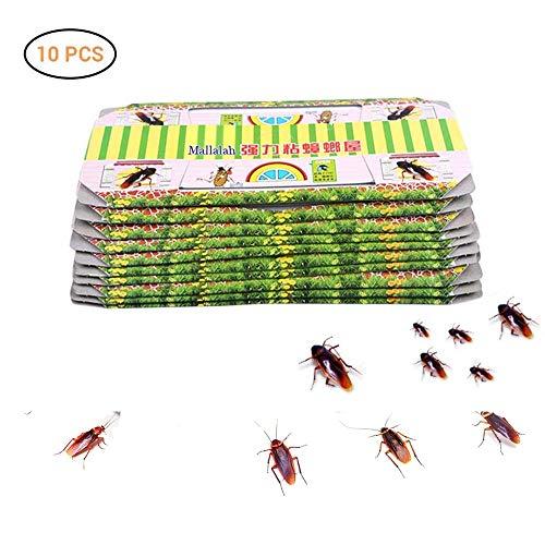 Pywee 10er Pack Effektive Kakerlakenfallen Klebrig | Schabenfallen | Premium Klebefalle | Umweltfreundlich | Ungiftig | Chemikalienfrei | Spinnen-Ameisen-Hinterwelle-Mörder