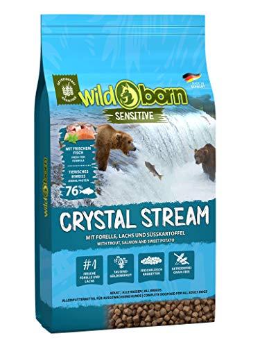 WILDBORN CRYSTAL STREAM 15kg Hundefutter getreidefrei mit Lachs & Forelle - getreidefreies Hundefutter für alle erwachsenen Hunde ab 6. Monaten | sensitives Futter ohne Zusatzstoffe 'Made in Germany' (15 kg)