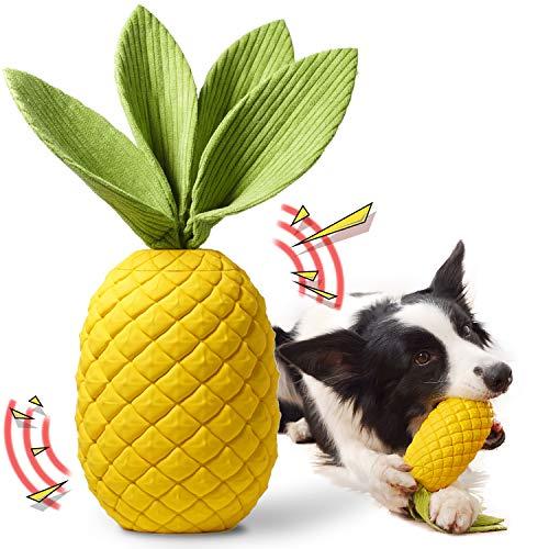 Rmolitty Hundespielzeug, Unzerstörbares Kauspielzeug für Hunde, Langlebiger Gummi Quietschspielzeug für Große Mittlere Hunde