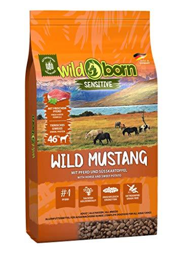 Wildborn Wild Mustang 12,5 kg getreidefreies Hundefutter mit Pferdefleisch, Süßkartoffel & Aroniabeeren | Monoproteinprodukt auch für Allergiker geeignet