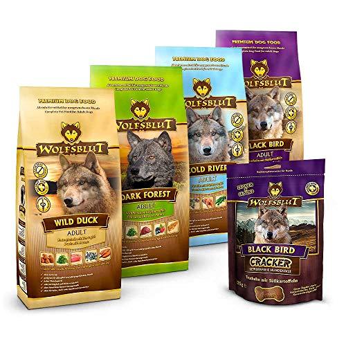 Wolfsblut - Mixpaket Trockenfutter klein - 4 x 500 g + 225 g - Getreidefreies Hundefutter