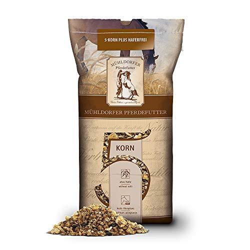 Mühldorfer 5-Korn Plus haferfrei, 20 kg, pelletfreies Vollkornmüsli, ohne Hafer, energiespezifisch, Futter für alle Pferde und Ponys