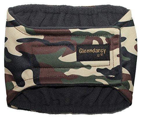 Glenndarcy Männlicher Hundewindeln - Urininkontinenz - (XS Band only, Camouflage)