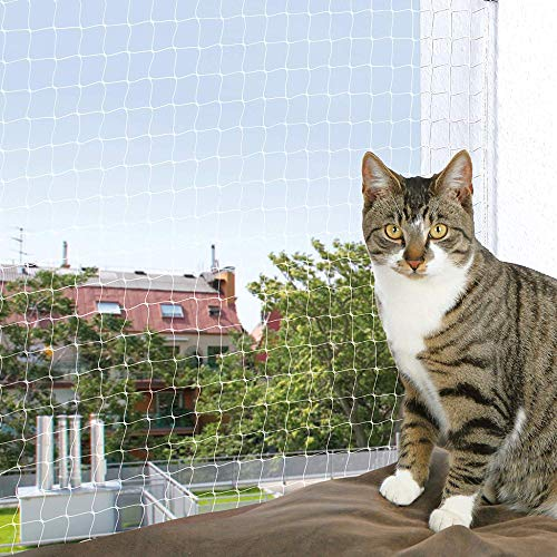 Friendos YOAI katzennetz für Balkon und Fenster Transparent Katzengitter Balkon Katzenschutznetz Schutznetz Balkonnetz ohne Bohren für Katzen zur Absicherung von Balkon, Terrasse, Fenster und Türen…