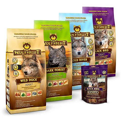 Wolfsblut   Mixpaket Trockenfutter groß   4 x 2 kg + 225 g Cracker   Getreidefreies Hundefutter