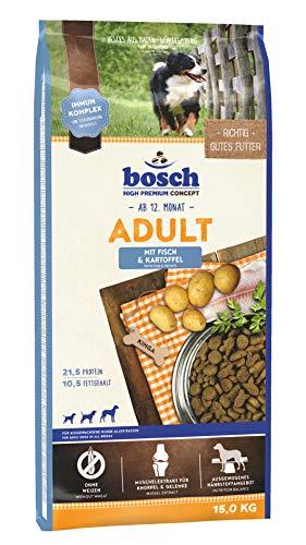 bosch HPC Adult mit Fisch & Kartoffel   Hundetrockenfutter für ausgewachsene Hunde aller Rassen   1 x 15 kg