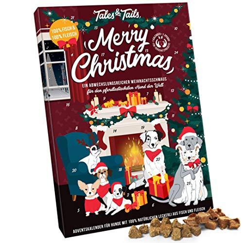 Tales and Tails Adventskalender für Hunde, 100% Fisch und 100% Fleisch Leckerli und Snacks im Mix, 132 g, 2325