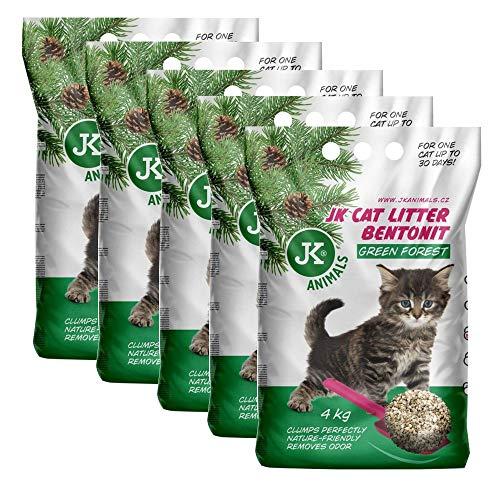 JK 5x4 kg CAT Green Forest Katzenstreu Sparpaket klumpend Katzen Einstreu Klumpstreu