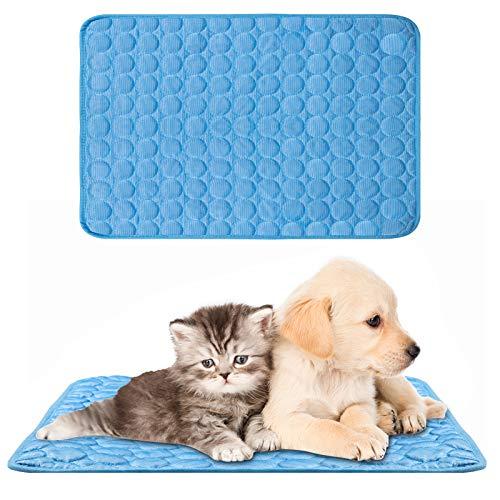 XiYee Kühlmatte für Hunde, Kühlhundematte Breathable, Selbstkühlend, Kein Wasser oder Kühlschrank Erforderlich, Kratzfest rutschfeste Kühlmatte für kleine Mittelgroße Hunde oder Katzen